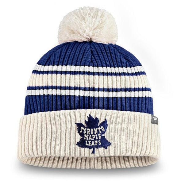 NHL Toronto Maple Leafs True Classic Pom Cuffed Knit Toque