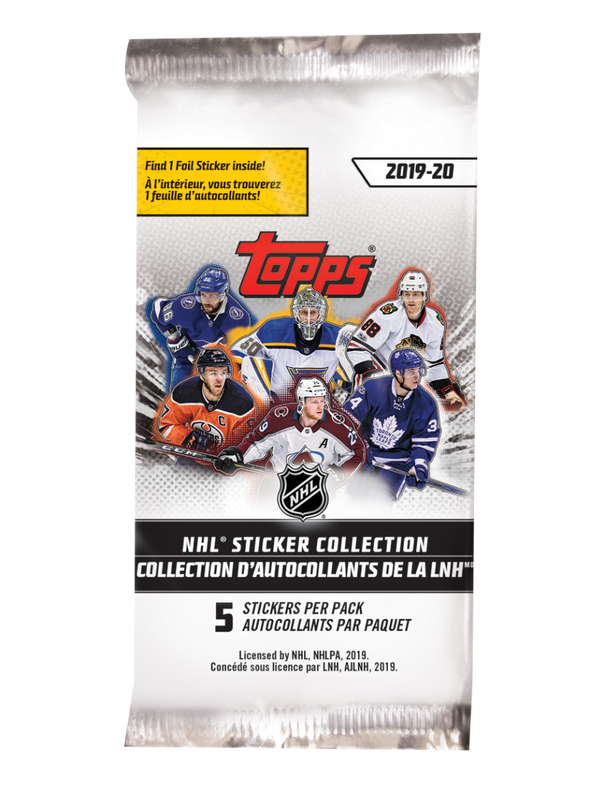2019-2020 NHL Sticker Collection Packs