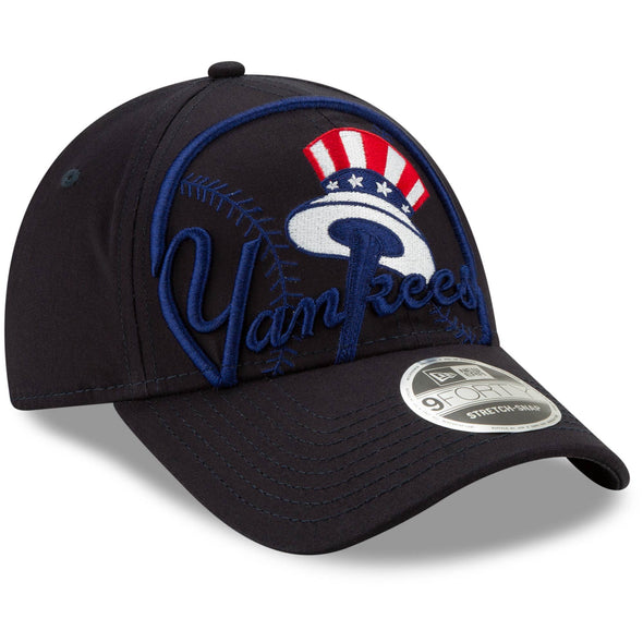 Men's MLB New York Yankees Logo Elements Snapback 9FORTY Adjustable Cap