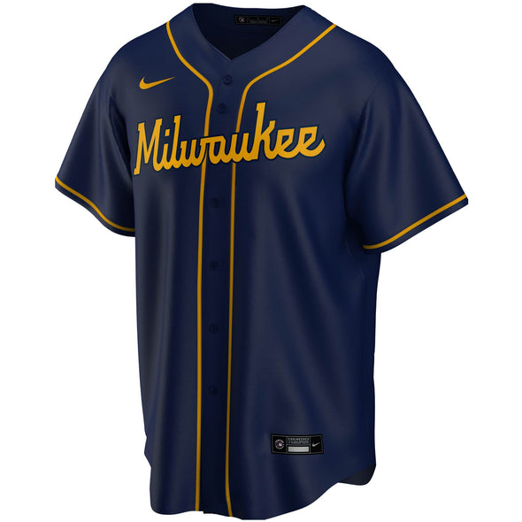Nike Men's MLB Milwaukee Brewers Christian Yelich 2020 Alternate Replica Player Jersey