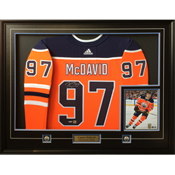 Frameworth NHL Edmonton Oilers Connor McDavid Autographed Jersey