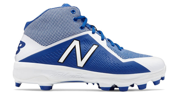 Shop New Balance Senior 4040v4 Mid PM4040D4 TPU Baseball Cleat White/Royal Edmonton Canada