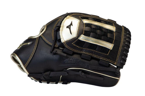 Shop Mizuno 12.75 Inch Senior MVP Prime SE GMVP1200PSE8 Baseball Glove Edmonton Canada Colour is Black and Gold