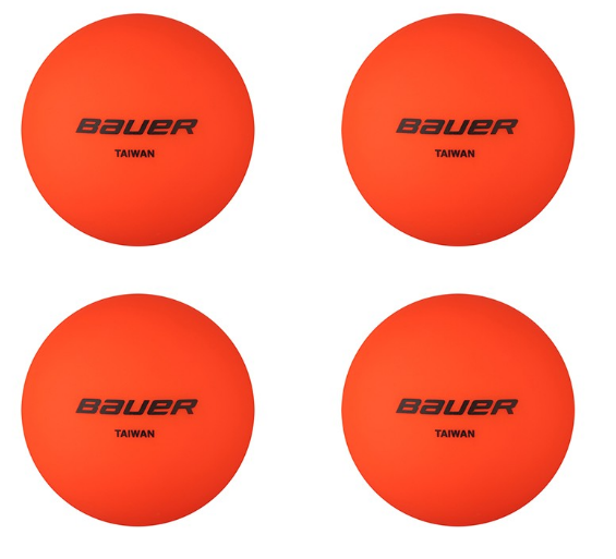 No Bounce Street Hockey Ball - Warm Weather 4 Pack
