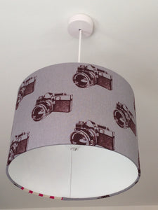 Cameras Grey Lampshade