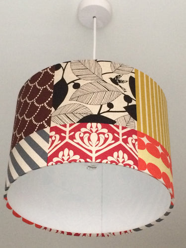 Patchwork Neutral Lampshade