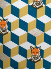 Load image into Gallery viewer, Foxes and Boxes Lampshade