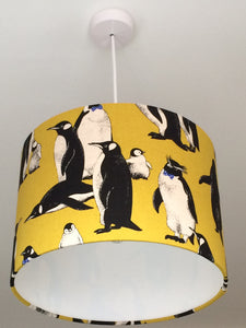 Penguins Yellow Lampshade