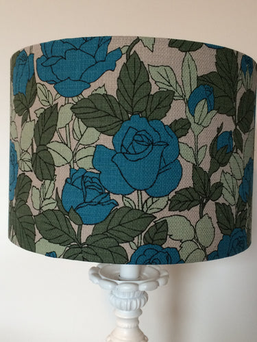 Turquoise Roses Lampshade