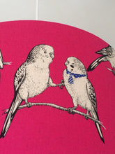 Load image into Gallery viewer, Budgies Pink Lampshade