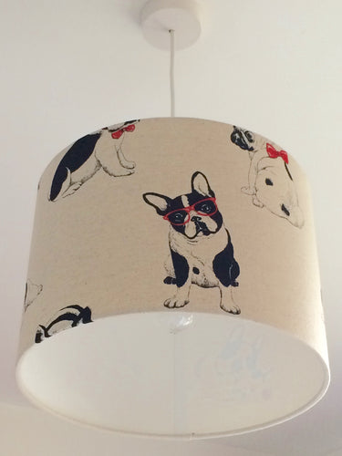 Dogs Natural Lampshade