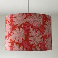 Load image into Gallery viewer, Monstera Red Lampshade