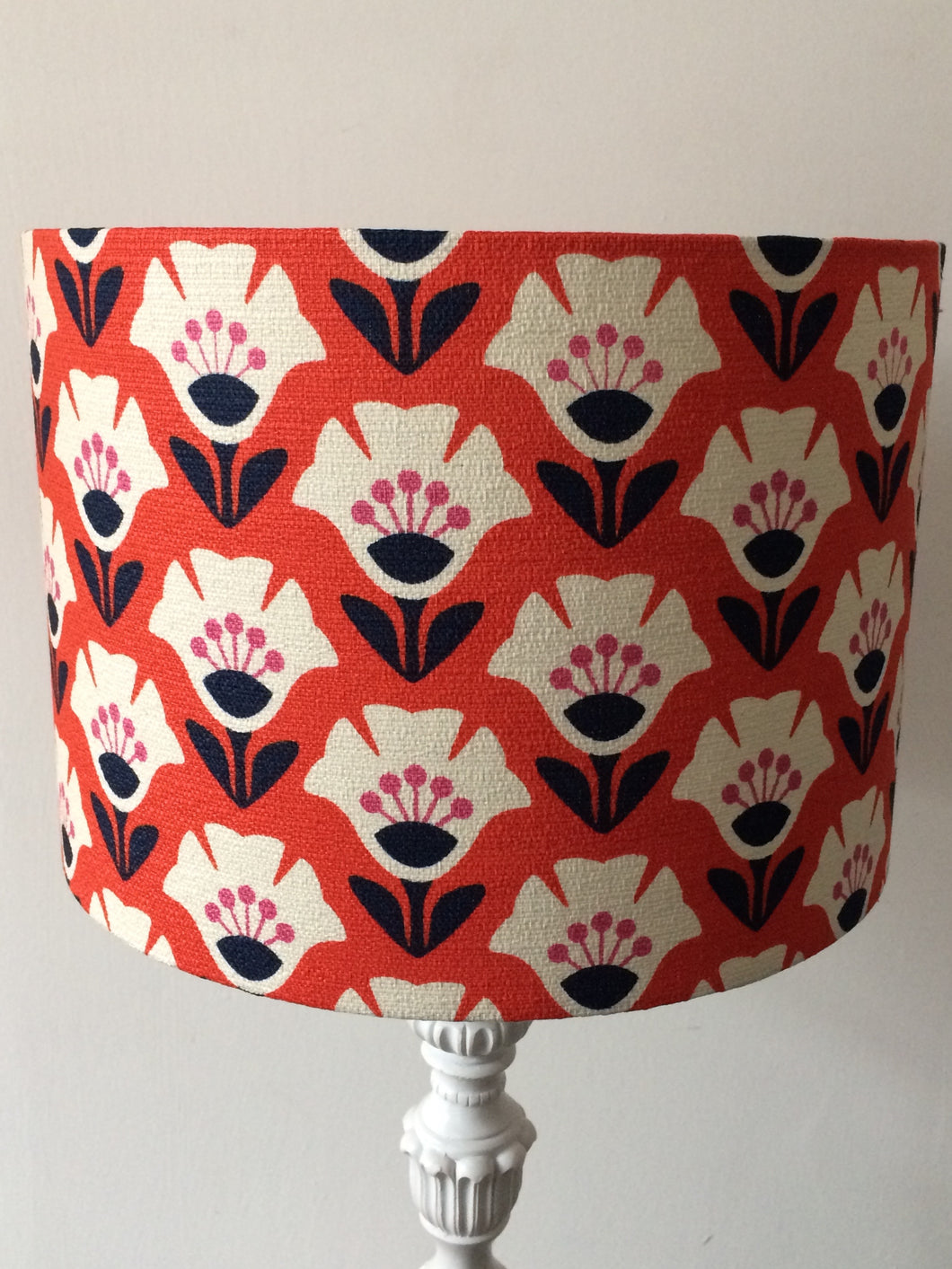Garden Variety Red Lampshade