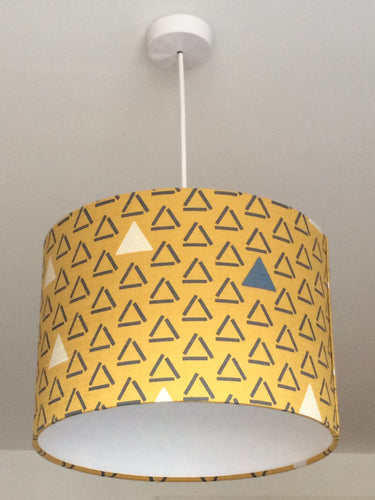 Mustard Triangles Lampshade