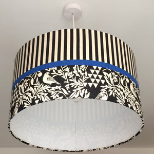Birds & Stripes Lampshade