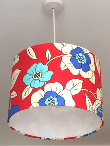Bright Floral Red Lampshade