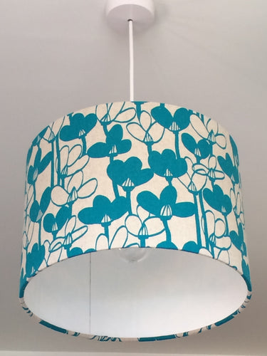 Snowdrops Turquoise Lampshade