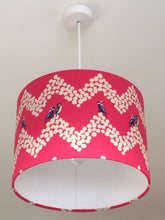 Load image into Gallery viewer, Parakeets Pink Lampshade