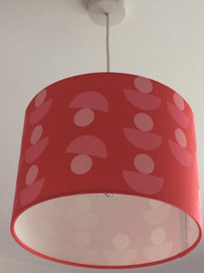Geo Flowers Red Lampshade