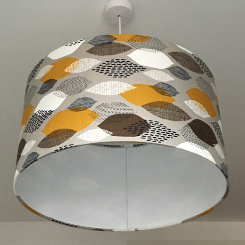 Leaves Grey Lampshade