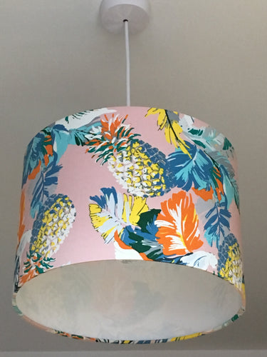 Pineapples Pink Lampshade