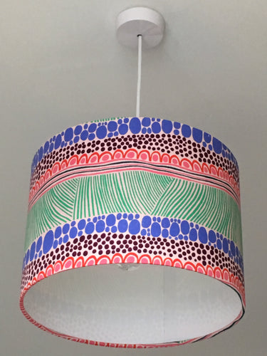 Squiggle Green Lampshade