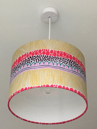 Squiggle Yellow Lampshade
