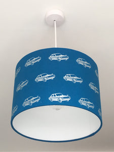 Cars Blue Lampshade