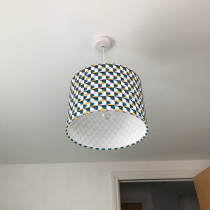 Retro Geometric Drum Lampshade