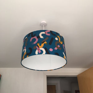 Paint Blue Lampshade