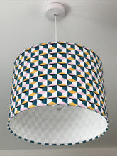 Load image into Gallery viewer, Retro Geometric Drum Lampshade