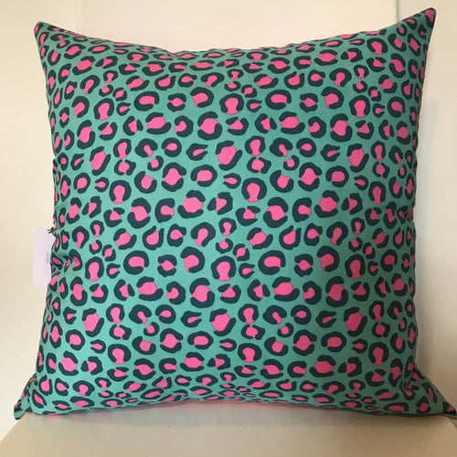 Leopard Blue Cushion
