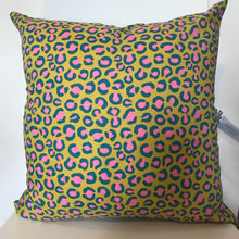 Load image into Gallery viewer, Leopard Neon Cushion