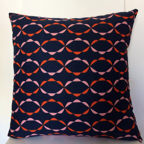 Chain Navy Cushion