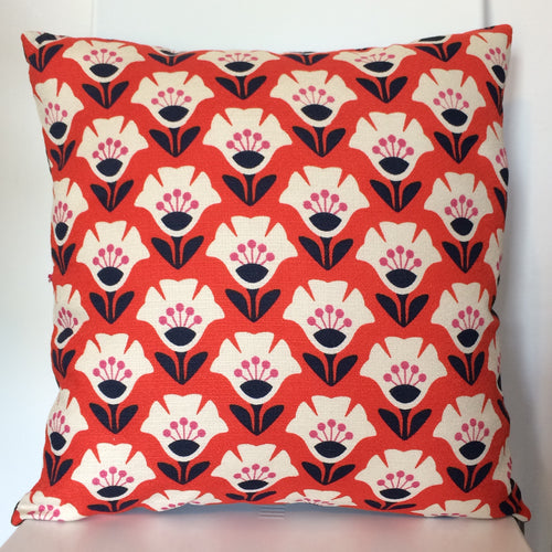 Garden Variety Red Cushion