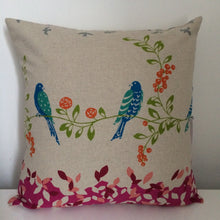 Load image into Gallery viewer, Bird Song Pink Cushion