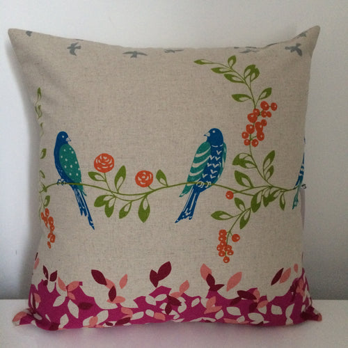 Bird Song Pink Cushion