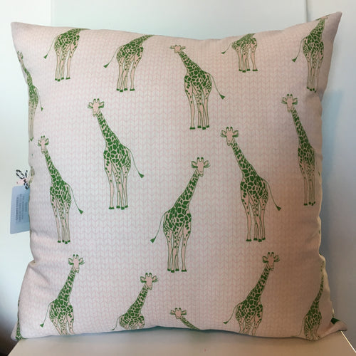 Giraffe Green Cushion