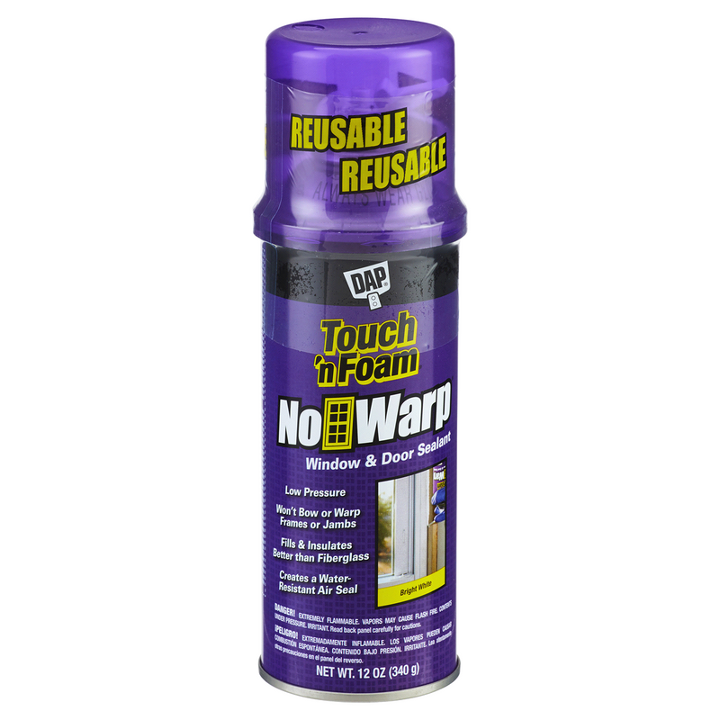 DAP Touch 'n Foam No Warp Window & Door Sealant, 12 oz.
