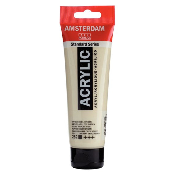 Amsterdam Standard Series Acrylic Tube 120 ml Naples Yellow Green 282