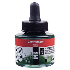 Amsterdam Acrylic Ink Bottle 30 ml Olive Green Deep 622