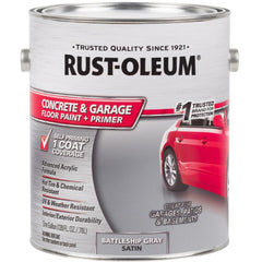 Rust-Oleum Concrete & Garage 1 Gallon Battleship Gray Satin Concrete Floor Paint