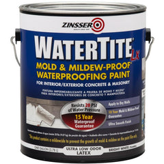 Rust-Oleum Zinsser 1 Gallon Bright White (Tintable) Watertite-LX Mold & Mildew-Proof Waterproofing Paint