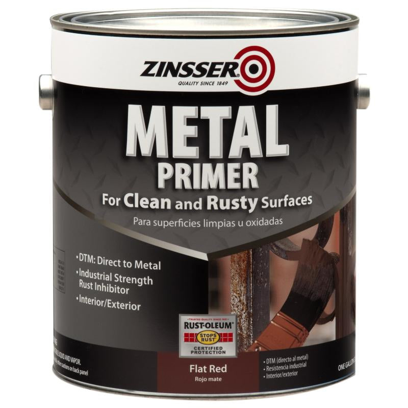 Rust-Oleum Zinsser 1 Gallon Flat Red Metal Primer For Clean & Rusty Surfaces