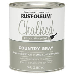 Rust-Oleum Chalked 30 fl. oz. Country Gray Ultra Matte Paint