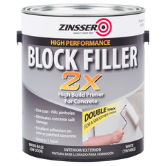 Zinsser Block Filler 2X High Build Primer For Concrete
