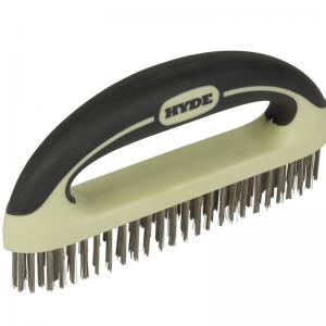 MAXXGRIP PRO Stainless Steel Wire Brush, 8""