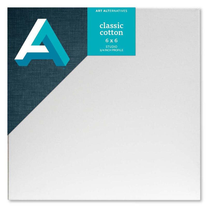 "Art Alternatives Classic Cotton Stretched Canvas, Studio Canvas – 3/4"" Profile, 6"" X 6"""