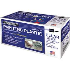 Petoskey 9' x 150' .31mil Steelcoat High Density Painters Plastic, Package of 12