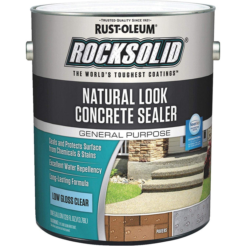 Rust-Oleum RockSolid 1 Gallon Low Gloss Clear Natural Look Concrete Sealer